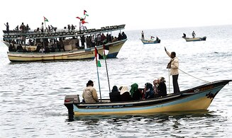 'Reverse flotilla' launched to breach Israeli security blockade