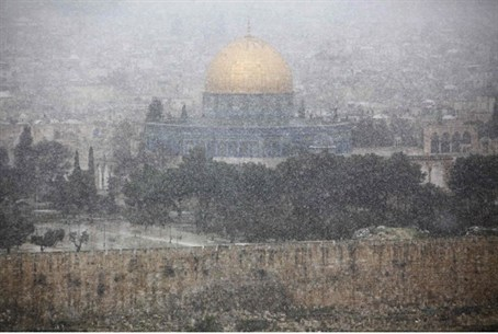 Snow on Temple Mount