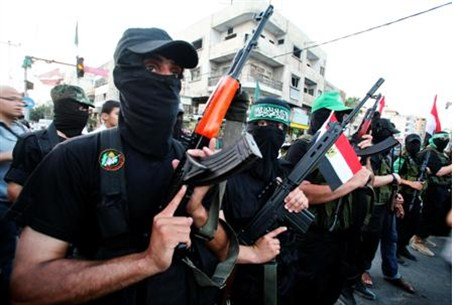 Armed Hamas army in Gaza