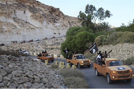 ISIS terrorists in eastern Libya (file)