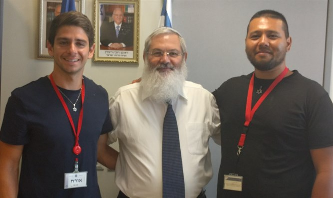 Navon and Filipe with Minister Ben-Dahan