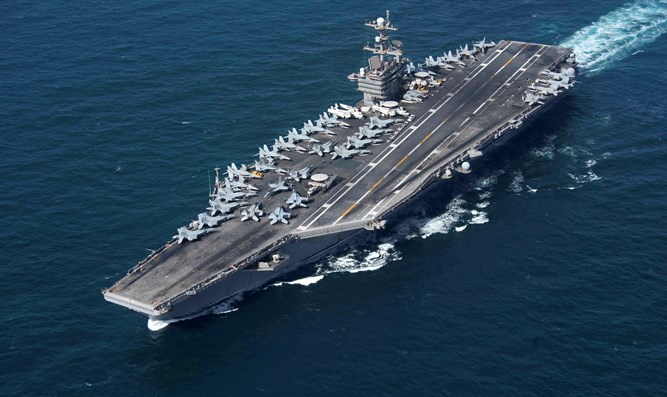 US Aircraft carrier USS John C. Stennis (CVN 74) transits Strait of Hormuz
