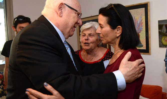 Rivlin visits the Feder family