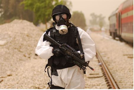 Chemical war drill (illustrative)