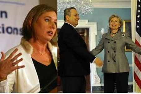 Livni, Barak and Clinton