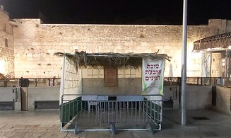 Watch: Sukkahs ready for the throng at Western Wall Plaza