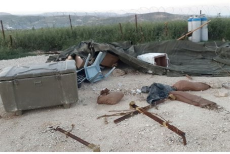Destroyed IDF outpost