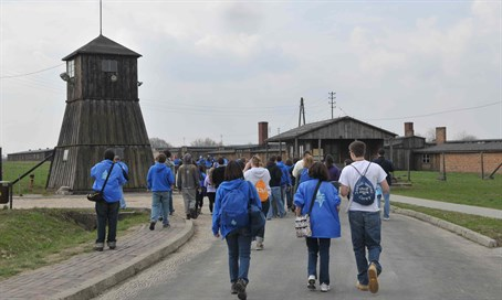 Jewish visitors at Majdanek (illustration)