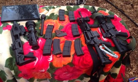 Some of the weapons seized
