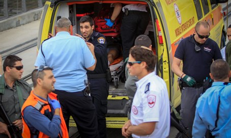 Illustrative: victim evacuated into ambulance after terror attack