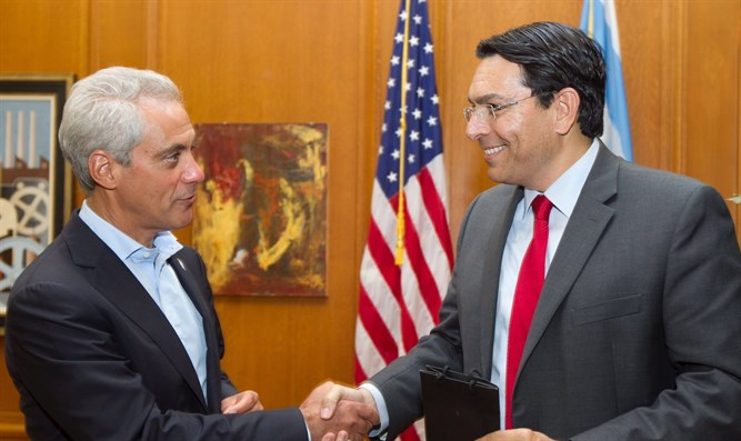 Chicago Mayor Rahm Emanuel and Ambassador Danny Danon