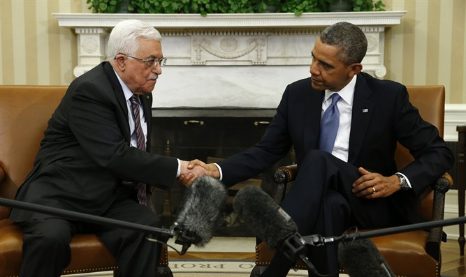 Obama and PA chairman Mahmoud Abbas meet in Washington in 2014
