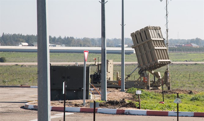 Iron Dome battery in northern Israel