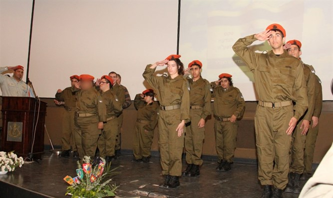 Special needs soldiers are sworn in to the Home Front Command
