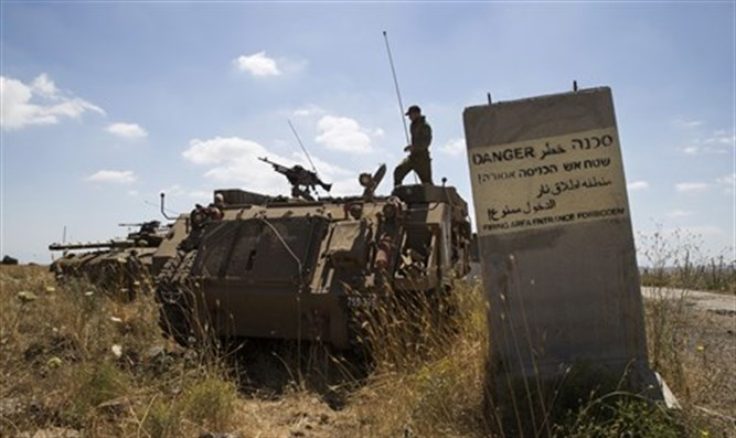 IDF forces on Golan Heights